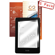 CaseGuru 5 Pack LCD Ultimate Clear Screen Protector with 3 Layer Structure For New Amazon Kindle Fire with Microfibre Cleaning Cloth