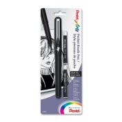 Pentel Arts Pocket Brush Pen, Includes 2 Black Ink Refills (GFKP3BPA) 3 Sets