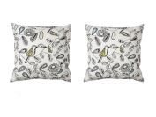 NEW Ikea Snabbvinge Cushion Throw Pillow Cover's (2 Pack) Cover's Only 50cm x 50cm