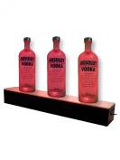 Marketing Holders 60cm LED Lighted Glowing Liquor Bottle Display Shelf