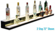 2 Tier LED Liquor Bottle Display - Low Profile Style