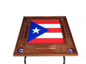 Puerto Rico Domino Table with the Full Flag