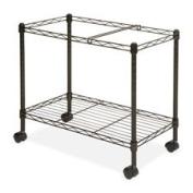 """Mobile Filing Cart, Ltr/Lgl, 30cm - 2.2cm """"x 25-1.9cm """"x 20-1.3cm """", Black, Sold as 1 Each"""