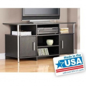 Tv Stand for Flat Screen Tvs up to 110cm , Black- This Black Tv Stand Has a Sleek, Contemporary Style That Looks Great with Any Decor in the Home.