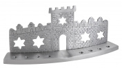 Old City of Jerusalem 11cm x 27cm Chanukah Menorah