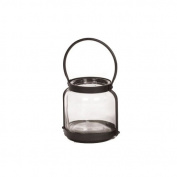 Skalny Round Glass/Metal Lantern, 15cm x 18cm