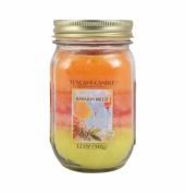 Langley Empire Candle Tuscany Triple Pour Mason Jar Mottled Wax Candle, 350ml, Hawaiian Breeze