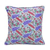 Indian Cushion Cover Printed Home Décor Throw Bed Pillow Cotton Canvas Case 43cm X 43cm