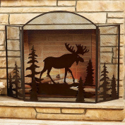 Moose Fireplace Screen