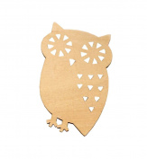 Set of 6 Durable Wood Coasters Elegant Insulation Pads Bowl Pads Owl