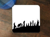 LOTR Heroes Silhouette Design Pattern Print Silicone Drink Beverage Coaster 4 Pack by Trendy Accessories