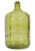 Hill's Imports Lime Green Glass Bottle