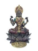 Hindu Goddess Lakshmi on Lotus Hinduism Display Statue