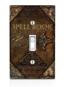 Magic Spell Book Design Pattern Print Light Switch Plate