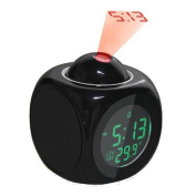 Multifunction LCD Talking Projection Alarm Clock Time Temp Display.