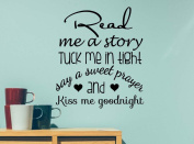 #2 Read me a story tuck me in tight say a sweet prayer cute playroom sticker nursery vinyl saying lettering wall art inspirational sign wall quote decor