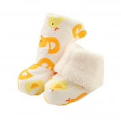 Pretty Winter Soft Baby Shoes Durable Cotton Warm Sock Yellow Duck