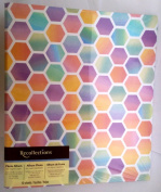 Modern Hexagon Colourful Pastels Magnetic Photo Album Holds 40 4x6 Photos