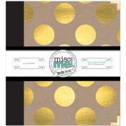 Bo Bunny Misc. Me Binder Life Journal, 20cm x 23cm , Gold