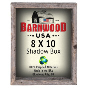 BarnwoodUSA 8x10 Rustic Reclaimed Shadow Box Collectible Picture Frame