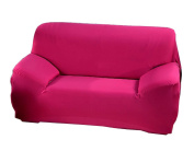 Resilient Soft Sofa Slipcover Stretch Sofa Cover Seat Cushion Rose-red