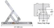 Truth 50cm Heavy-Duty 4-Bar Stainless Steel Window Hinge
