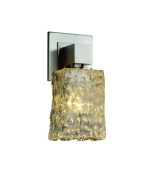 Justice Design Group GLA-8705-26-CLRT-CROM Veneto Luce Collection Aero 1-Light Wall Sconce without Arms