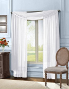 Empire Home Solid White Sheer Voile Scarf Valance 550cm Long Scarves