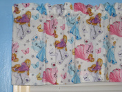 Sleeping Beauty Cinderella,Rapunzel Blue Pink Window Curtain Valacne