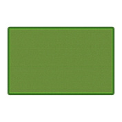 Flagship Office Classroom Decorative All Over Weave Green Floor Rug Nylon Rectangle 1.5m x 2.4m