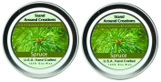 Premium 100% Soy Candles- Set of 2 - 60ml Tins Spruce