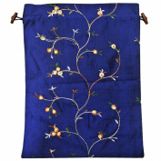 Wrapables Women's Embroidered Silk Travel Bag For Lingerie & Shoes