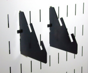 Wall Control 10-CN-104 B Slotted Metal Pegboard Bracket Pair Accessory Pack for Wall Control Pegboard Only, Black