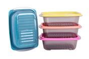 Food Storage, Freezer Containers, Bottom Wave Designed Set 4