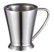 Visol Columbia Double Walled Insulated Stainless Steel Contemporary Coffee Mug, Silver