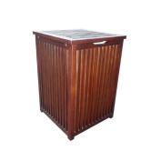 Home Accents Mahogany Colonial Hamper Laundry Box