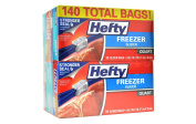 Hefty Slider Freezer Bags, Quart, 140 Count
