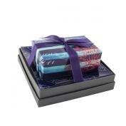 Mudlark Handcrafted Soap Bar and Dish Gift Set, Classic Almond/Beachcomber
