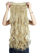 Sexybaby Hair-pieces Extensions Clip-in High Synthetic Fibre 150G 70cm Curly with 5 Clips