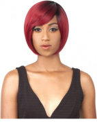 LULU (RTRED) - SHORT LAYER FRONT BANG STYLE HEAT RESISTANT SYNTHETIC HAIR WIG BY THEWIG