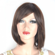 Coolsky Wig Classical Short Dark Brown Woman Wigs
