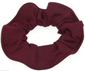 Burgundy Cotton Fabric Hair Scrunchie Handmade by Scrunchies by Sherry