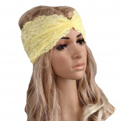 Tonsee Women Lace Retro Turban Twist Head Wrap Headband Headscarf