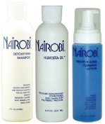 Nairobi 240ml TRIO Bundle (Humecta-Sil Conditioner,Wrapp-It foaming lotion , Detoxifying Shampoo) Includes 1 free NYX eyepencil