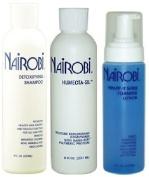 Nairobi 240ml TRIO Bundle (Humecta-Sil Conditioner,Wrapp-It foaming lotion , Detoxifying Shampoo) Includes 1 free NYX eyepencil