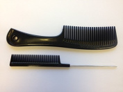 Unbreakable Detangler Comb and Pin Tail Comb 20cm 2 Pack Combo
