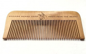 Wood Beard Comb - Fine Tooth, Anti-Static