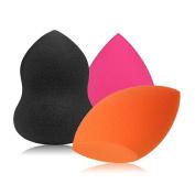Chinatera 3PCs Makeup Sponge Blender Foundation Puff Drop-shaped Puff Gourd-shaped Puff Ramp Puff