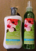 April Bath & Shower Hibiscus & Exotic Mango Body Splash & Lotion