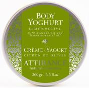 Attirance - Body Yoghurt - Lemon & Olive - 200ml - All Natural with Lemon Essential Oil & Avocado Oil